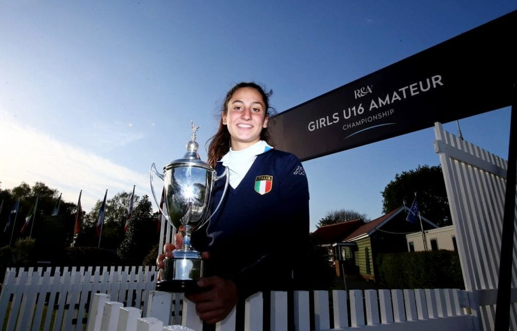 Italy's Francesca Fiorellini won the R&A Girls U16 Amateur Championship at Fulford, York, © The R&A / Getty Images