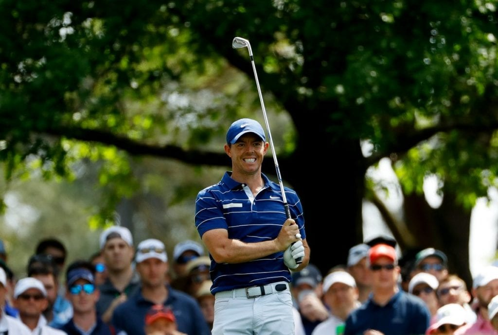 Rory McIlroy was in a tie for 44th place overnight