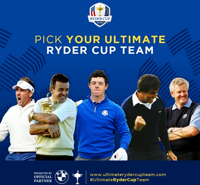 Select your Ultimate Ryder Cup Team with BMW