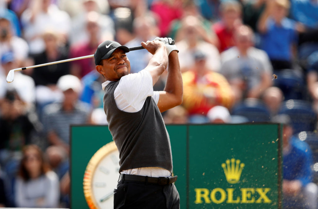 Golf - The 147th Open Championship - Carnoustie, Britain - July 21, 2018 Tiger Woods of the U.S. in action during the third round REUTERS/Jason Cairnduff