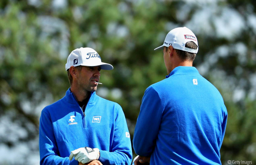 Birgir Hafthorsson and Axel Boasson, European Golf Team Championships, © Getty Images
