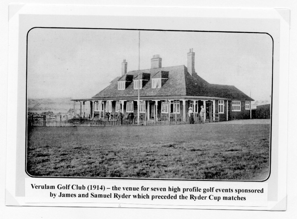 The Origin of the Ryder Cup. Credit: Peter Fry