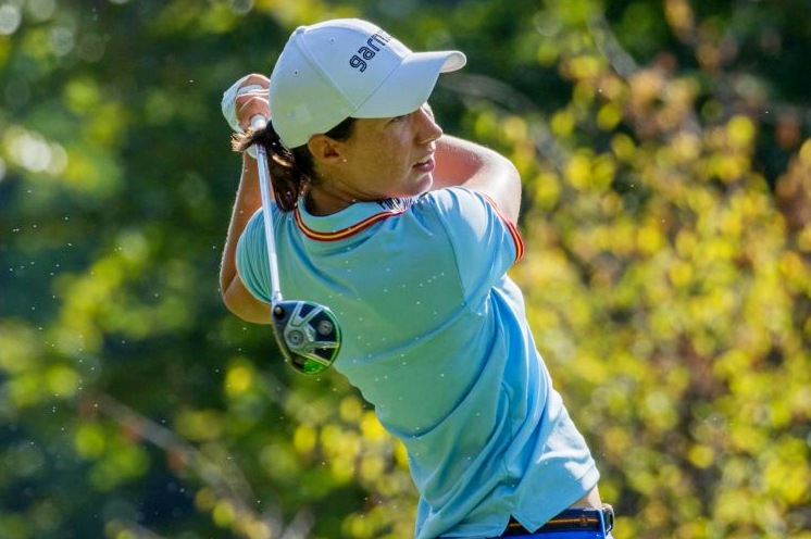 Carlota Ciganda and Maria Torres tied for lead in Evian