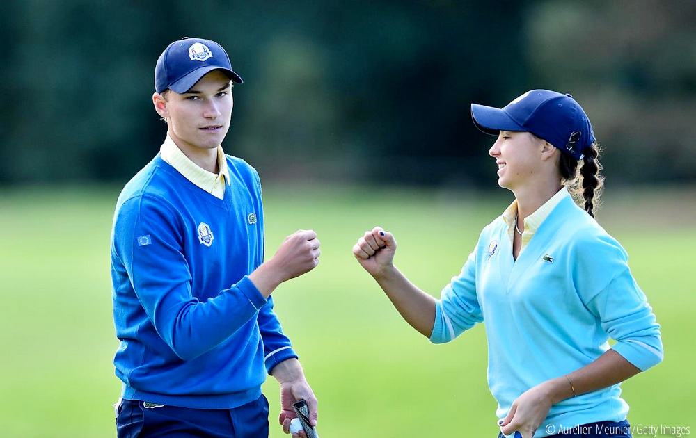 United States takes lead over Europe after first day of 2018 Junior Ryder Cup, © Aurélien Meunier/Getty Images