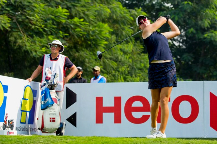 Becky Morgan, Nicole Broch Larsen and Ellie Givens tied for the lead, © LET