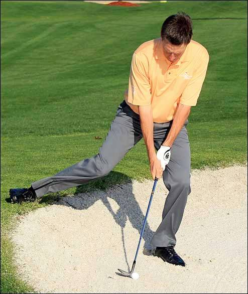 Downhill Bunker Shots - Chase it on out