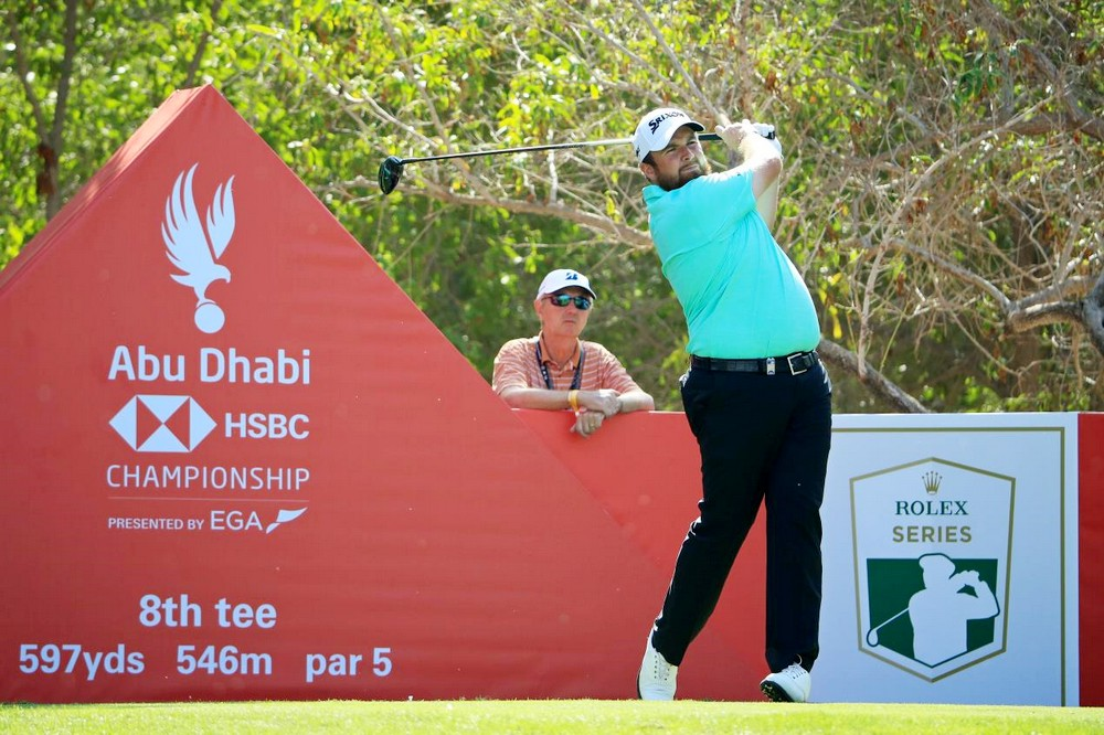 Lowry leads in Abu Dhabi after matching course record, © Getty Images
