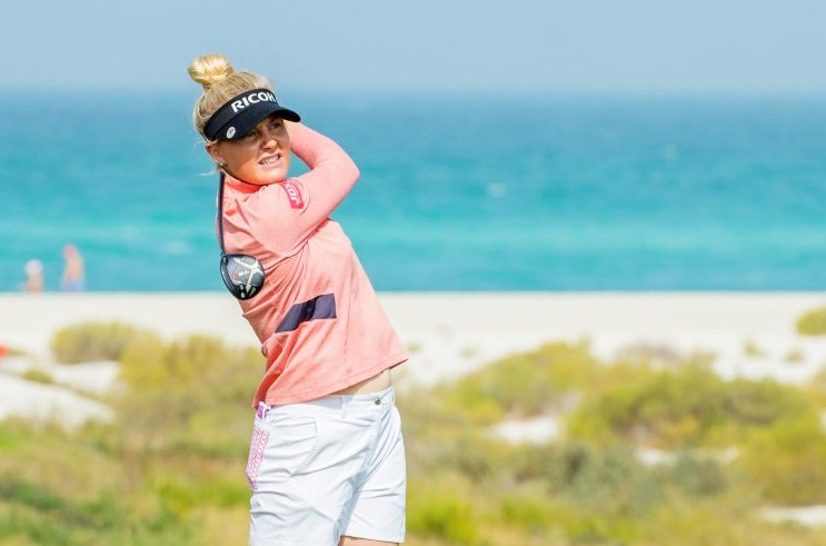 Charley Hull takes opening lead in Abu Dhabi