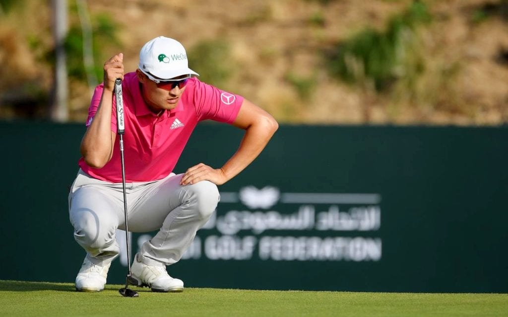 Li fires four eagles to share Saudi lead, © Getty Images