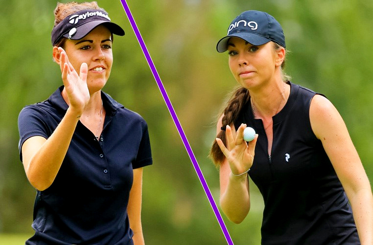 Meghan MacLaren and Lynn Carlsson tied for lead at 10-under, © Ladies