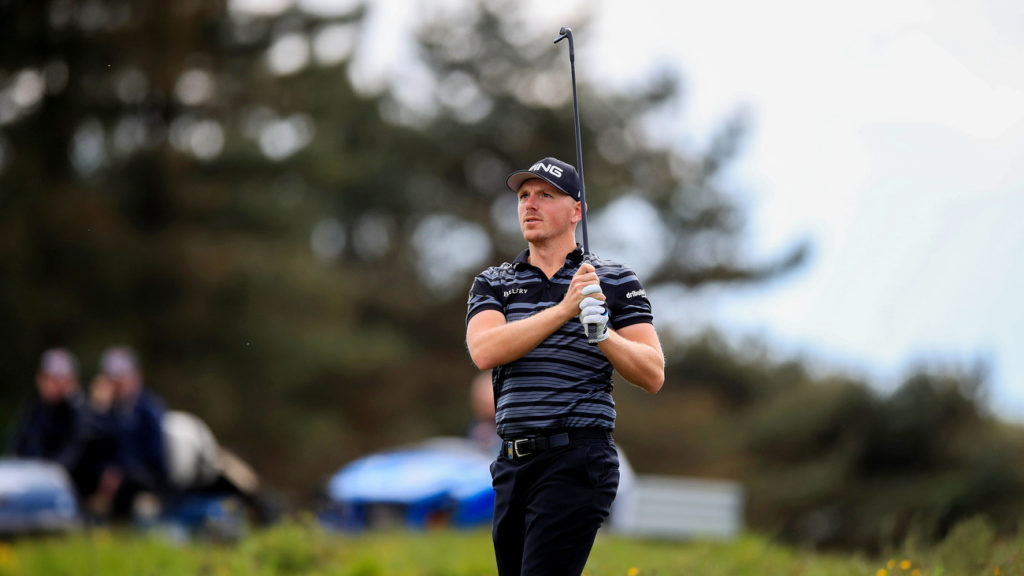 Matt Wallace set the clubhouse target on day two of the British Masters