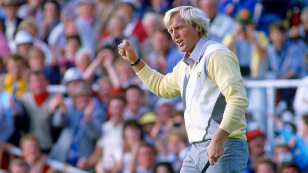 Greg Norman during fourth round The Open Championship 1986, Turnberry Ailsa Course,Ayrshire,Scotland.© TGPL / www.golfpicturelibrary.com