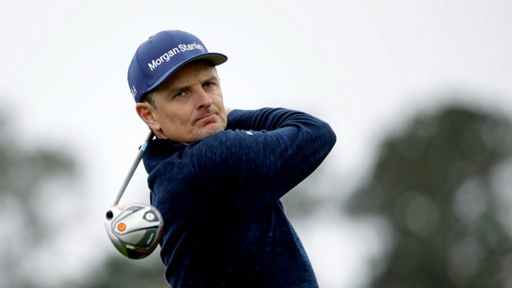 Justin Rose took a one-shot lead into the second round at Pebble Beach (AP Photo/Marcio Jose Sanchez)