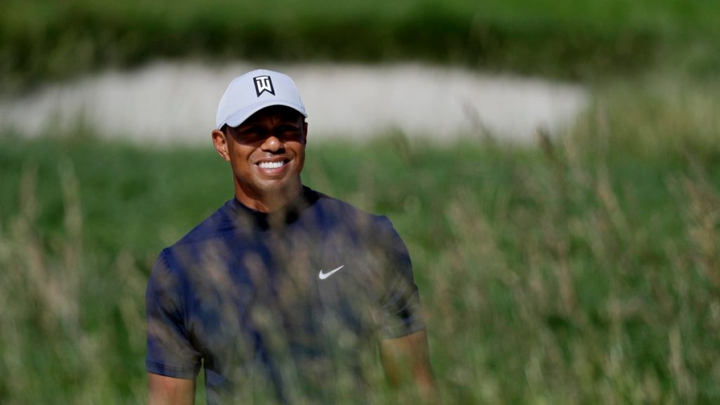 Tiger Woods is seeking a 16th major title in the US Open at Pebble Beach (Chris Carlson/AP)