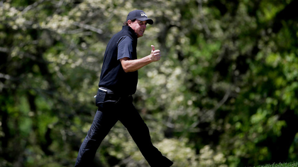 Their next shot at greatness - Phil Mickelson walks off the fourth tee during the third round of the PGA Championship golf tournament, Saturday, May 18, 2019, at Bethpage Black in Farmingdale, N.Y. (AP Photo/Seth Wenig)