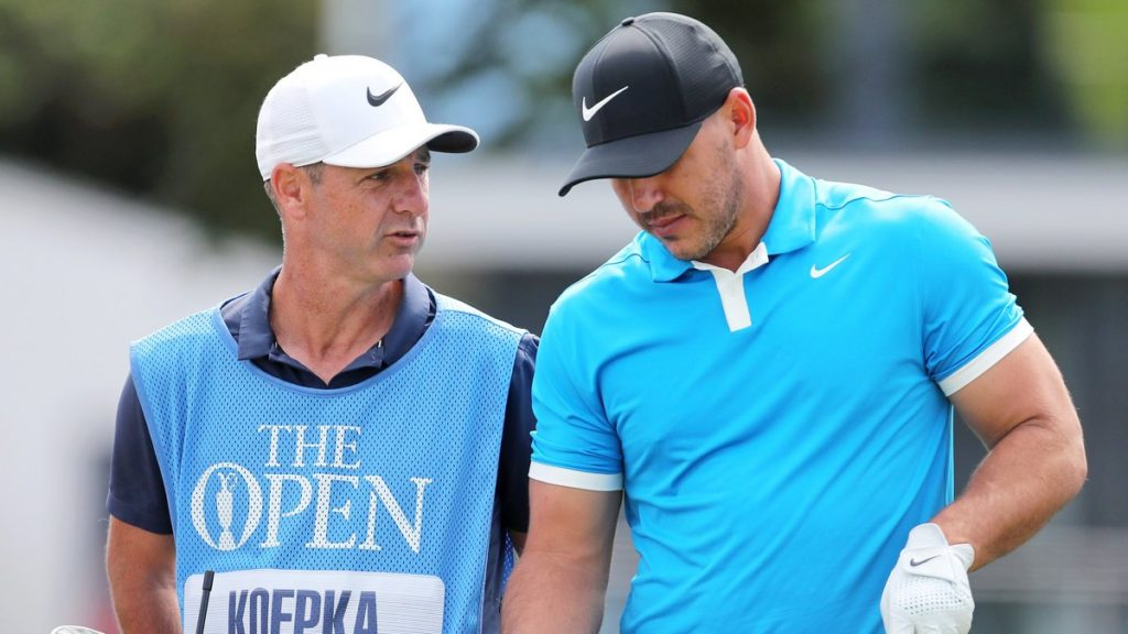 Koepka happy for caddie to steal spotlight at Royal Portrush