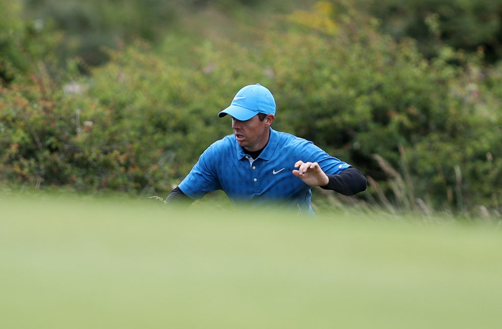 The Open Championship R1 - Brooks Koepka cruises into contention for Open as Rory McIlroy struggles