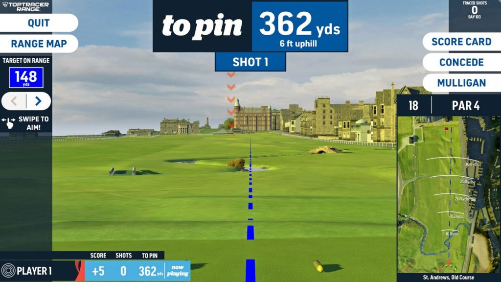 Virtual Golf St Andrews - Old Course added to the list of world-class courses available to play in Toptracer
