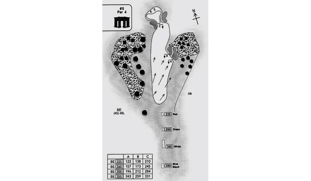 Fifth hole schematic rendering