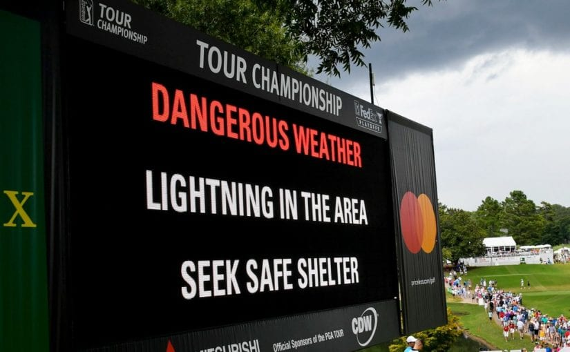 Tour Championship R3 - Weather injures spectators and halts the action in Atlanta