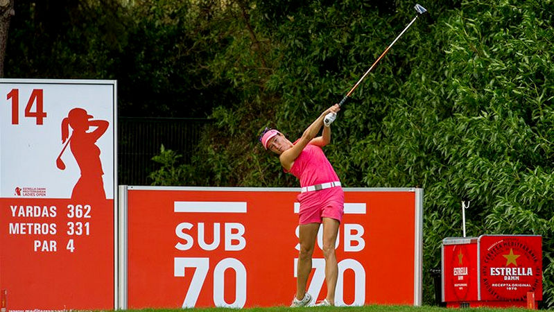 Mediterranean Ladies Open R2 - Laura Fuenfstueck fired a second consecutive 68 to lead by three at the halfway stage in Sitges, near Barcelona.