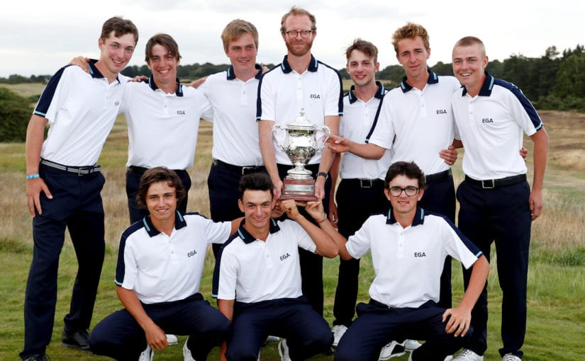 Europe win Jacques Léglise Trophy after defeating Great Britain and Ireland 15 ½ - 9 ½ at Aldeburgh Golf Club in England.