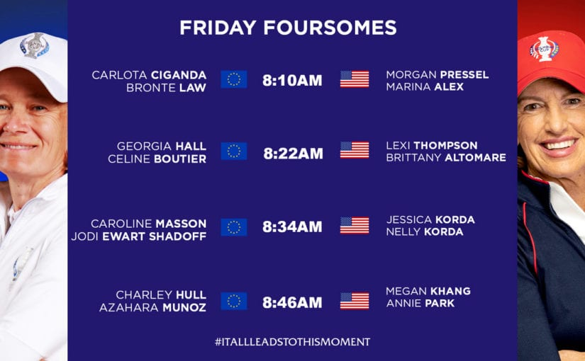 Let the battle begin - Americans will tee off first