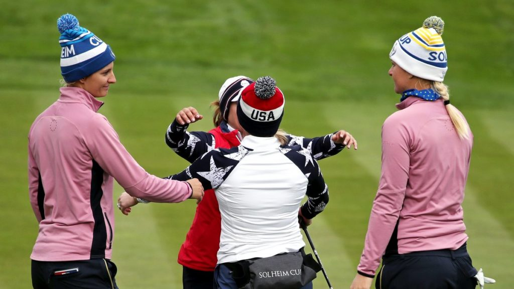 Europe lead Solheim Cup despite Nordqvist and Van Dam collapse - Morgan Pressel and Marina Alex fought back to claim a vital point for the United States.