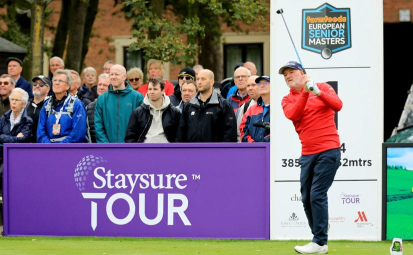 European Senior Masters R1 - Tournament host Peter Baker produced a stunning five under par back nine to grasp the first round lead