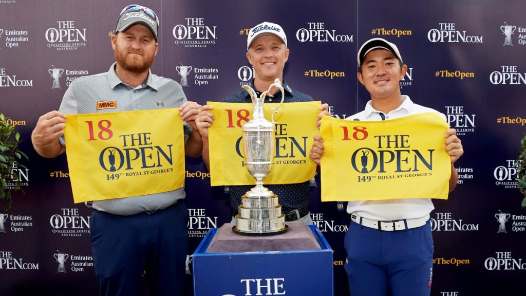 Open qualifying - Australian Open was the first event in The Open Qualifying Series. Jones, Pike and World N0.1 amateur Kanaya made it through