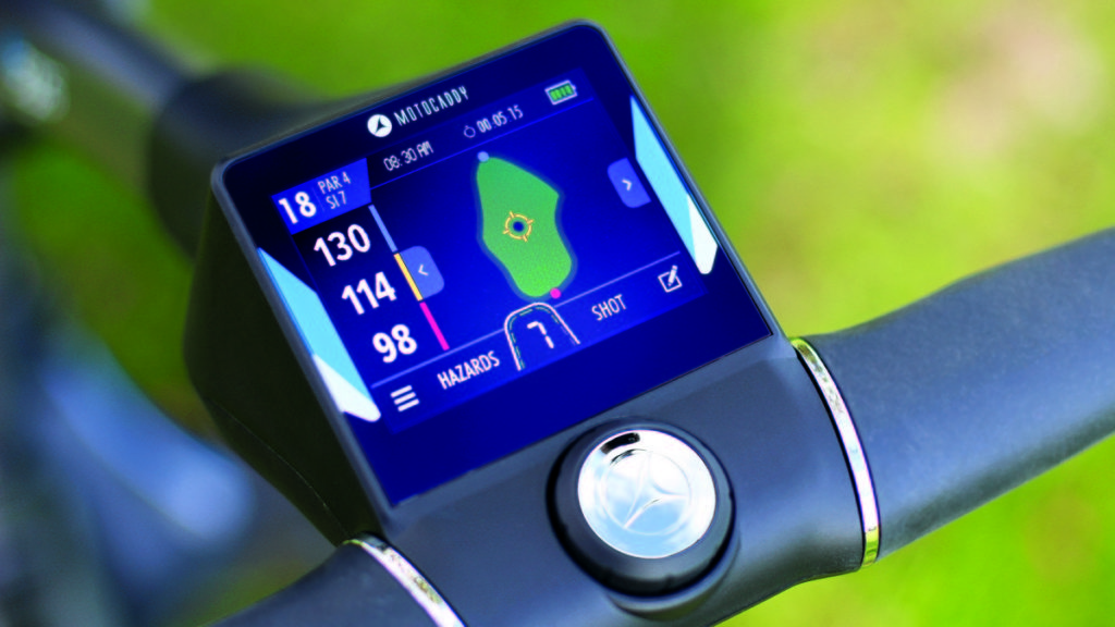 Motocaddy launches world's first touch screen electric trolley