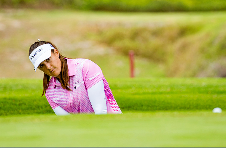 Investec South African Women's Open R1 - Nicole Garcia tied for lead