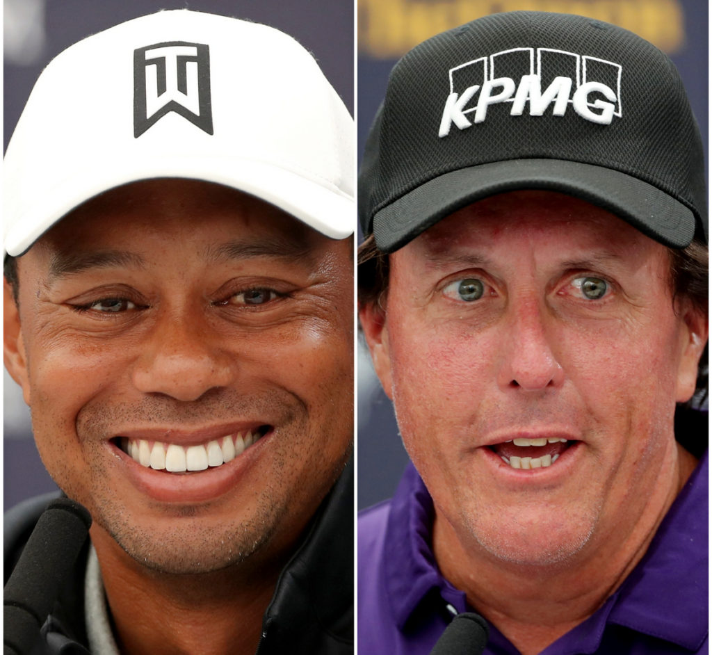 Woods Mickelson to play fundraiser with Brady and Manning